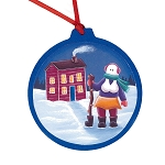 Mummer with Ugly Stick Ornament - Round