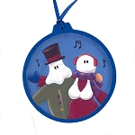 Mummer Couple Ornament - Round