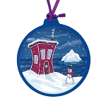 House & Iceberg Ornament - Round