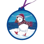 Puffin Ornament - Round