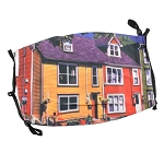 Non-Medical Face Covering - NL Colourful Row House Design