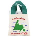Newfoundland Map Candy Tote Bag - Saltwater Taffy 150g