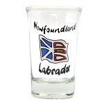 Shot Glass - Hand Painted Newfoundland Flag
