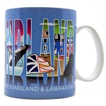 Newfoundland Text with Icons Mug - Wide Mouth