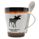 Moose Mug - Trimmed with Spoon