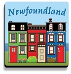 Coasters - Row house  - Set of 4 - 4 x 4