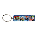 Keychain - Newfoundland Text with Icons
