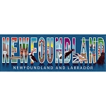 Magnet - Newfoundland and Labrador Text with Icons