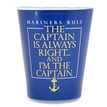 Shot Glass - The Captain is Always Right