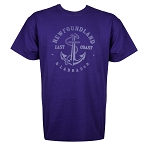 East Coast Anchor T-Shirt- Purple