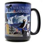 Newfoundland & Labrador Collage Mug - Black