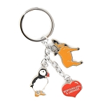 Keychain - NL Charms: Puffin, Moose & Heart
