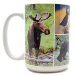 Modern Multi Photo Collage Mug - White