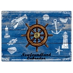 Magnet - Newfoundland and Labrador - Ships Wheel with Coastal Nautical Icons
