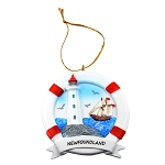Ornament - Life Ring with Lighthouse