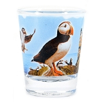 Shot Glass - Puffins