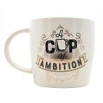 A Cup of Ambition Mug - White & Pink