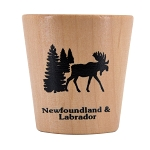 Wooden Shot Glass with Moose