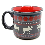 Moose Fair Isle Mug - Camp Style