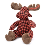 Moose Buffalo Plaid Plush