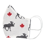 Non-Medical Face Covering - Adult - Moose & Maple Leaf Design