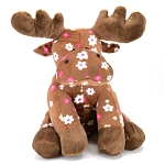 Moose Plush with Flowers