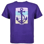 Youth T-Shirt - Silhouette Stroke Anchor - Purple