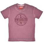 Kid's Acid Wash T-Shirt-Mauve