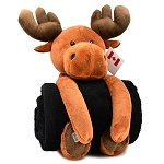 Moose Plush with Blanket