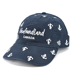 Newfoundland Anchor All Over Pattern Cap