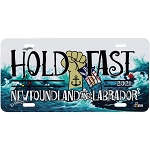 Hold Fast Newfoundland and Labrador License Plate