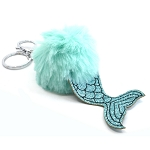 Mermaid Tail Keychain with Pompom