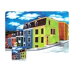 Rowhouse Placemat and Coaster 8 Pc Set