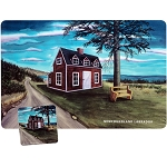 Red House Placemat and Coaster 8 Pc Set