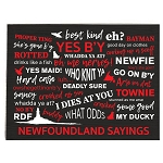 Cloth Placemat - Black with Newfoundland Sayings