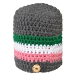 Toque - Crocheted Republic  - XLarge - Grey