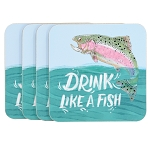 Drink like a Fish Coaster Set