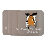 Making the Moose Set of 4 Coasters