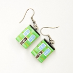 Earrings - Row House - Green