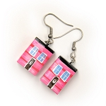 Earrings - Row House - Pink
