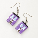 Earrings - Row House - Purple