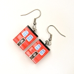 Earrings - Row House - Red