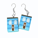 Earrings - Row House - Blue
