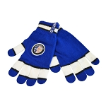 Gloves - Newfoundland Crest - Blue with White - Stretch - One Size