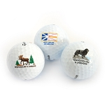 Golf Balls - Newfoundland dog - Moose , Newfoundland Flag -3pkg