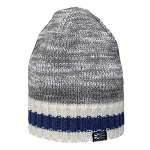 Toque -  Newfoundland Flag - Grey and Beige with Blue Stripe