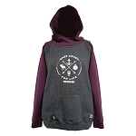 Ladies Hoodie - East Coast For Life - Grey/Purple
