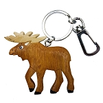Wooden Moose Key Chain - 4.5