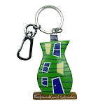 Wooden Rowhouse Key Chain - Green - 5