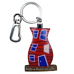 Wooden Rowhouse Key Chain - Red - 5